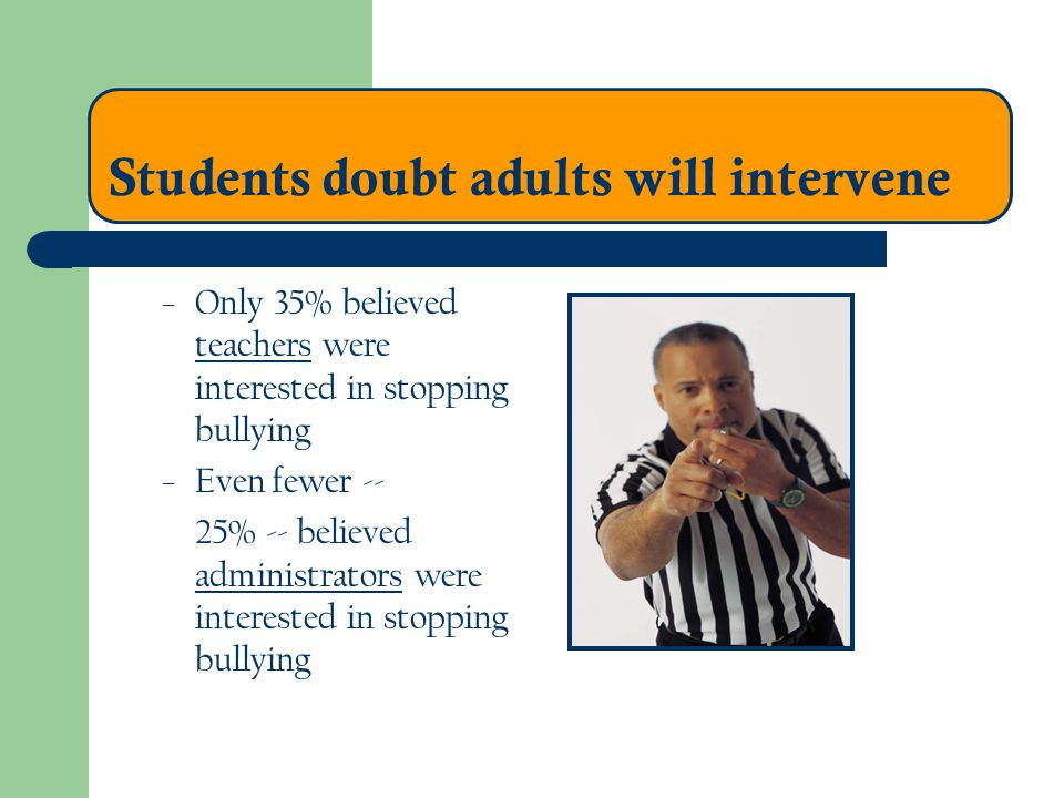 Students doubt adults will intervene