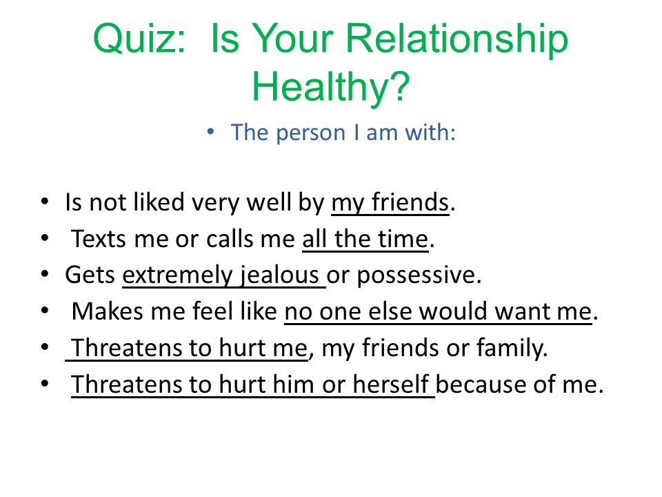 Possessive relationship quiz
