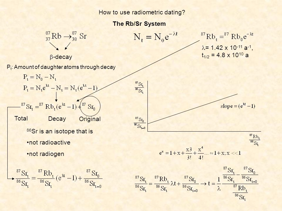 How to use radiometric dating
