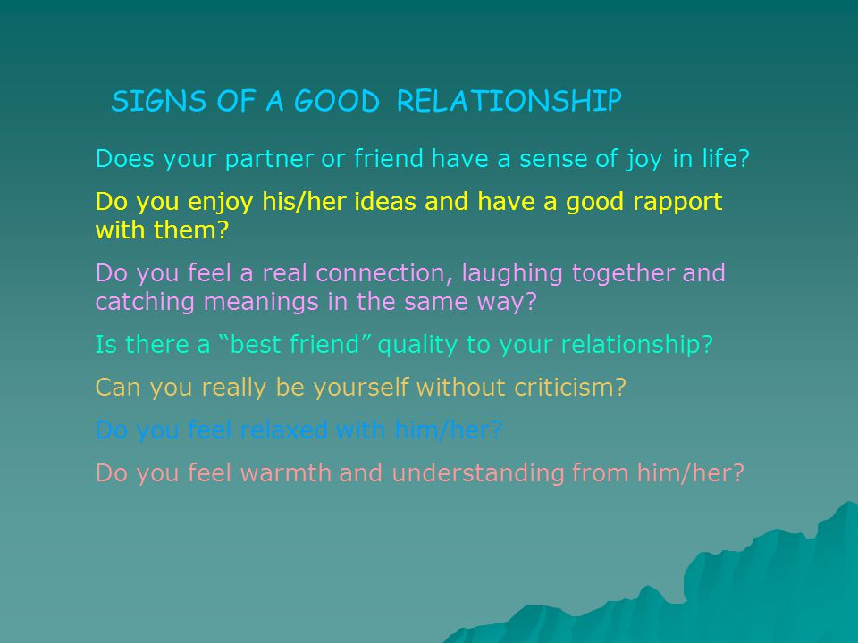 Do you enjoy his/her ideas and have a good rapport with them