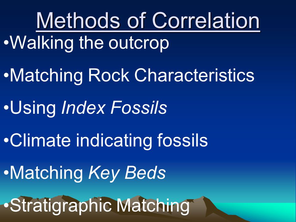 Methods of Correlation