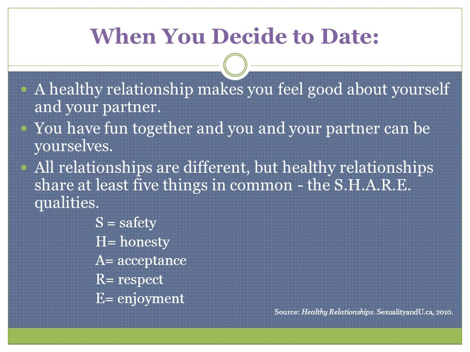 Qualities of a healthy dating relationship