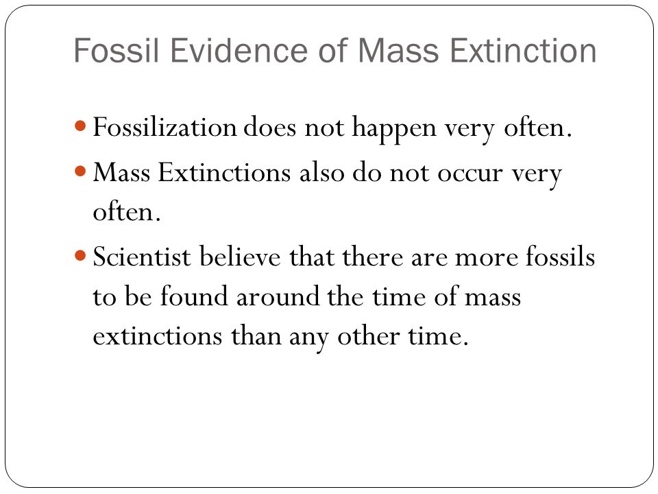 Fossil Evidence of Mass Extinction