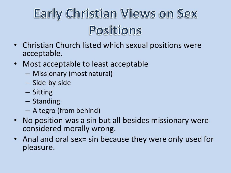 Christian View Anal Sex