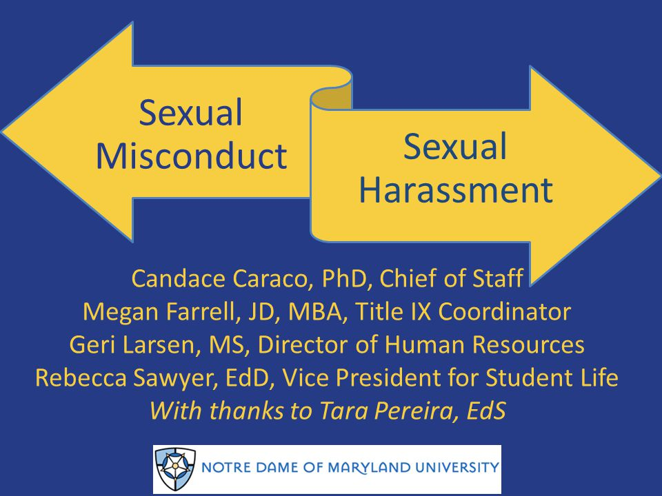 Sexual Misconduct Sexual Harassment