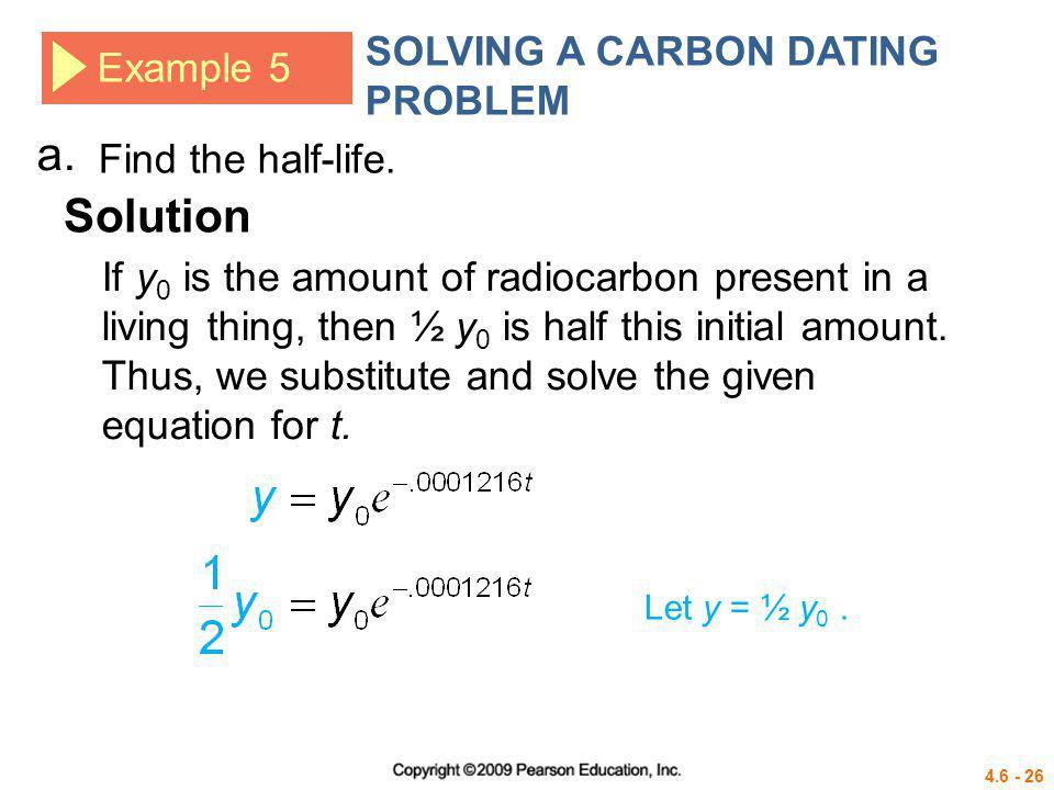 Carbon dating precalculus