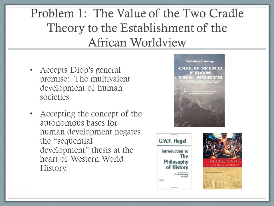 Problem 1: The Value of the Two Cradle Theory to the Establishment of the African Worldview