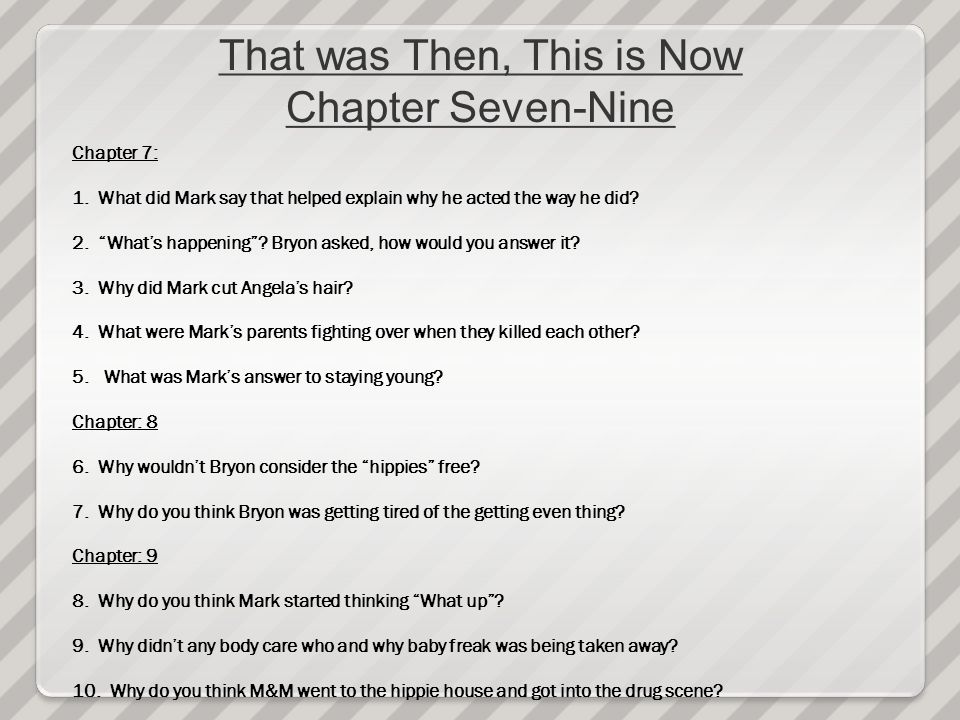 that was then this is now chapter 5