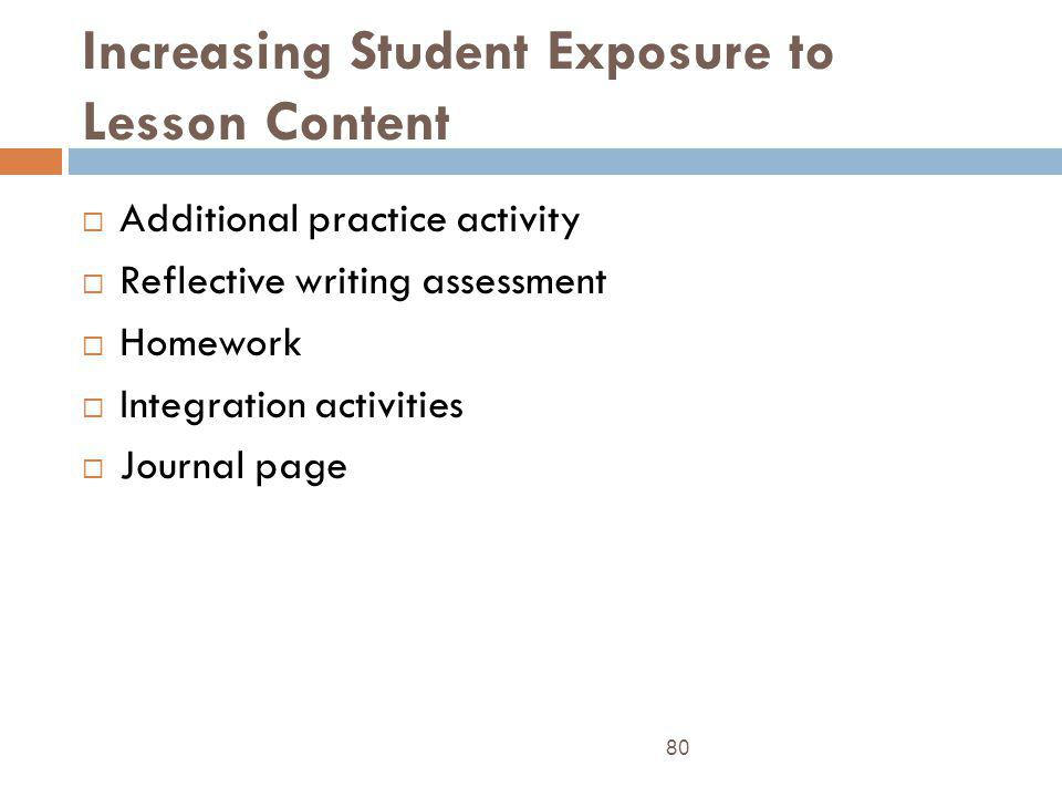 Increasing Student Exposure to Lesson Content