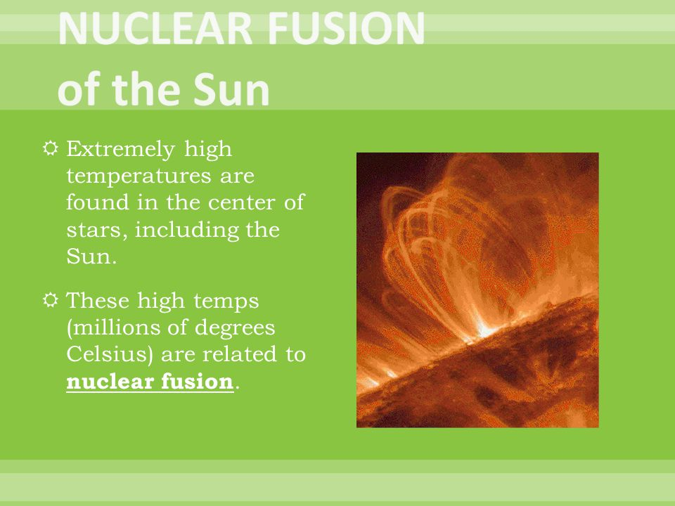 NUCLEAR FUSION of the Sun