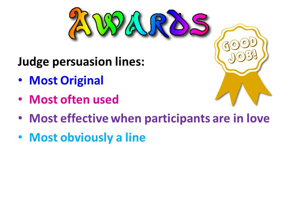 Judge persuasion lines: