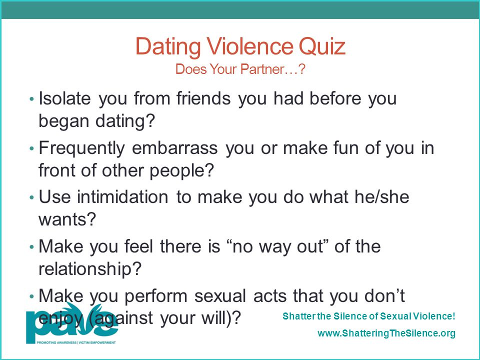 dating violence quiz