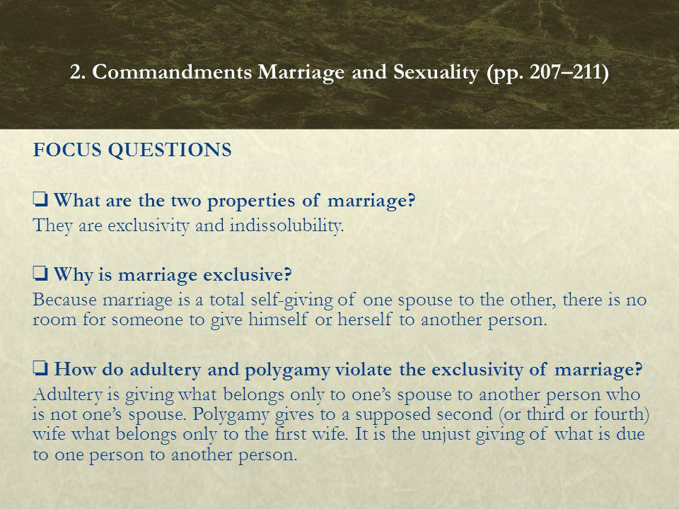 2. Commandments Marriage and Sexuality (pp. 207–211)