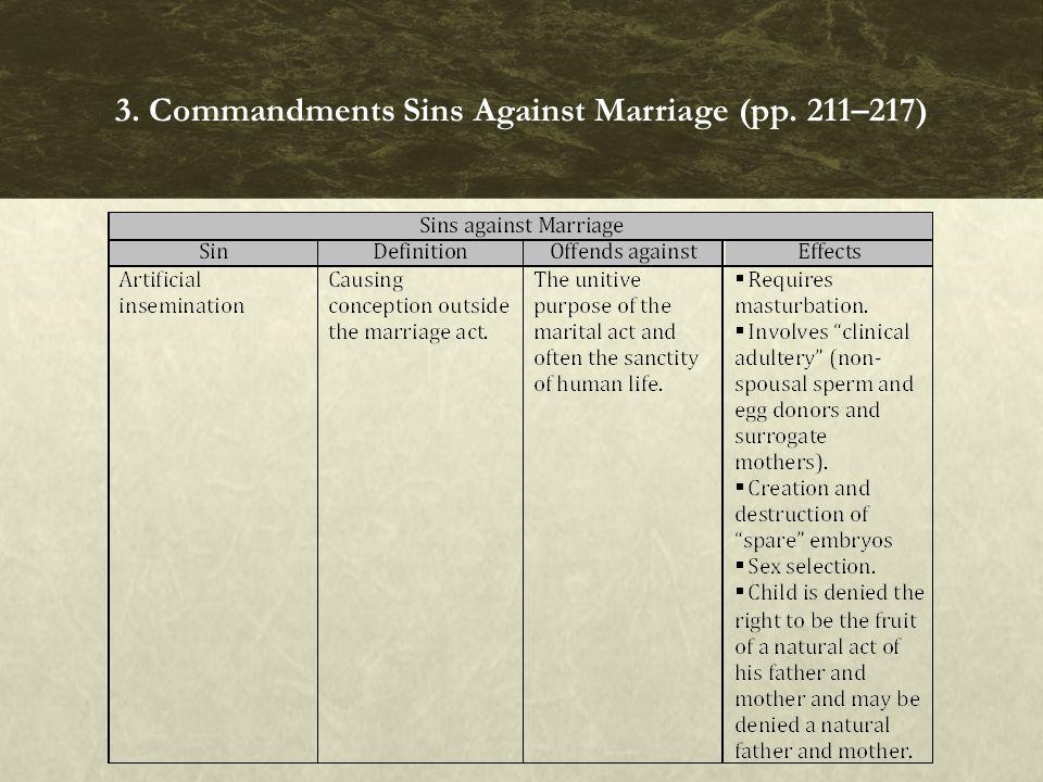 3. Commandments Sins Against Marriage (pp. 211–217)