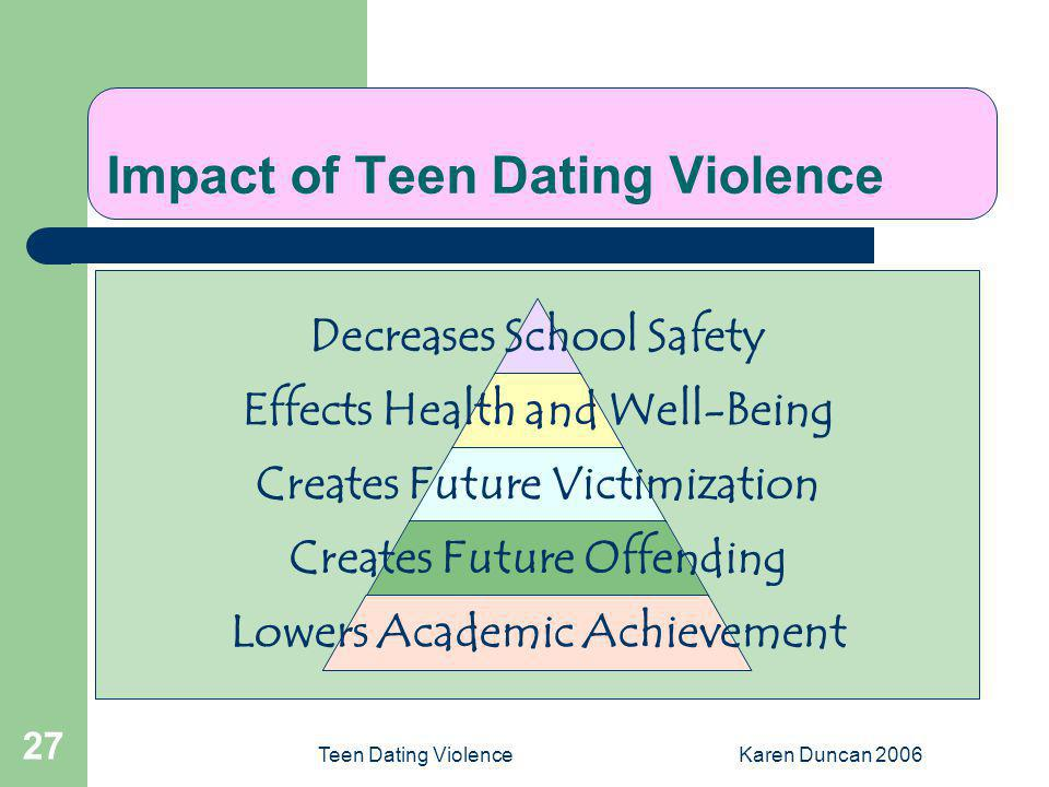 Teenage dating effects
