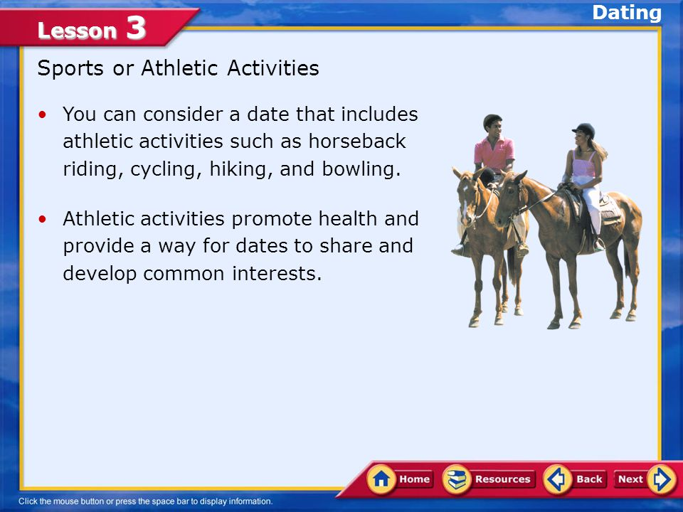 Sports or Athletic Activities