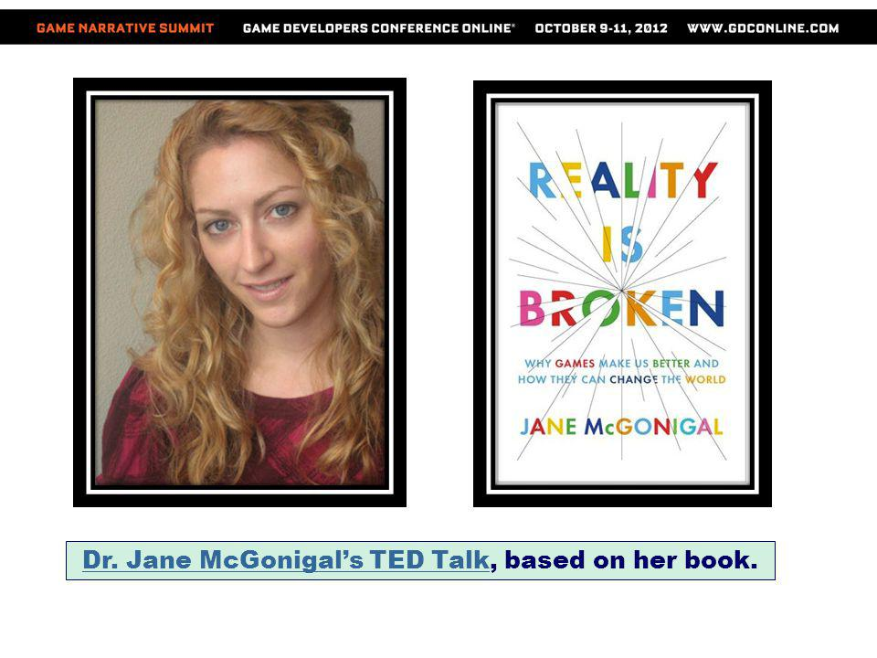 Dr. Jane McGonigal's TED Talk, based on her book.