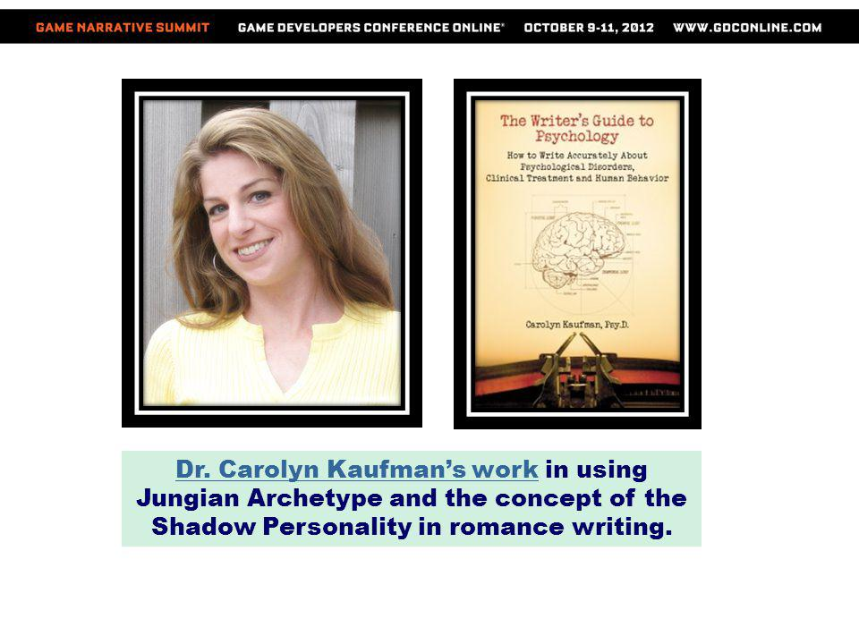 In her work with Archetype Writing, Kaufman applies Jungian archetype to romance writing.