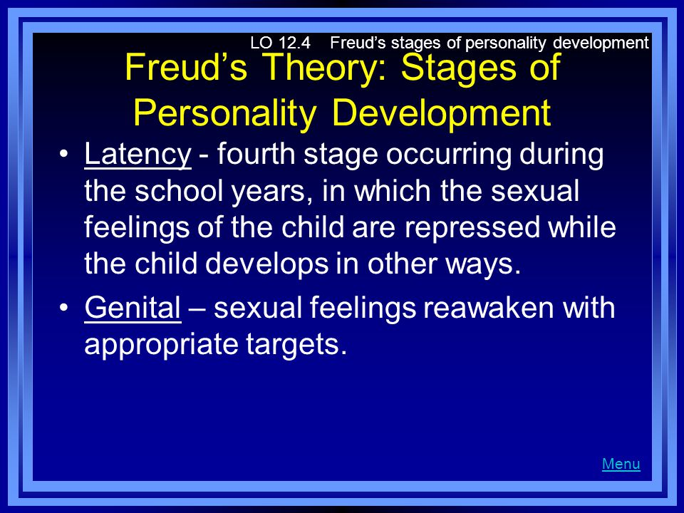Freud's Theory: Stages of Personality Development