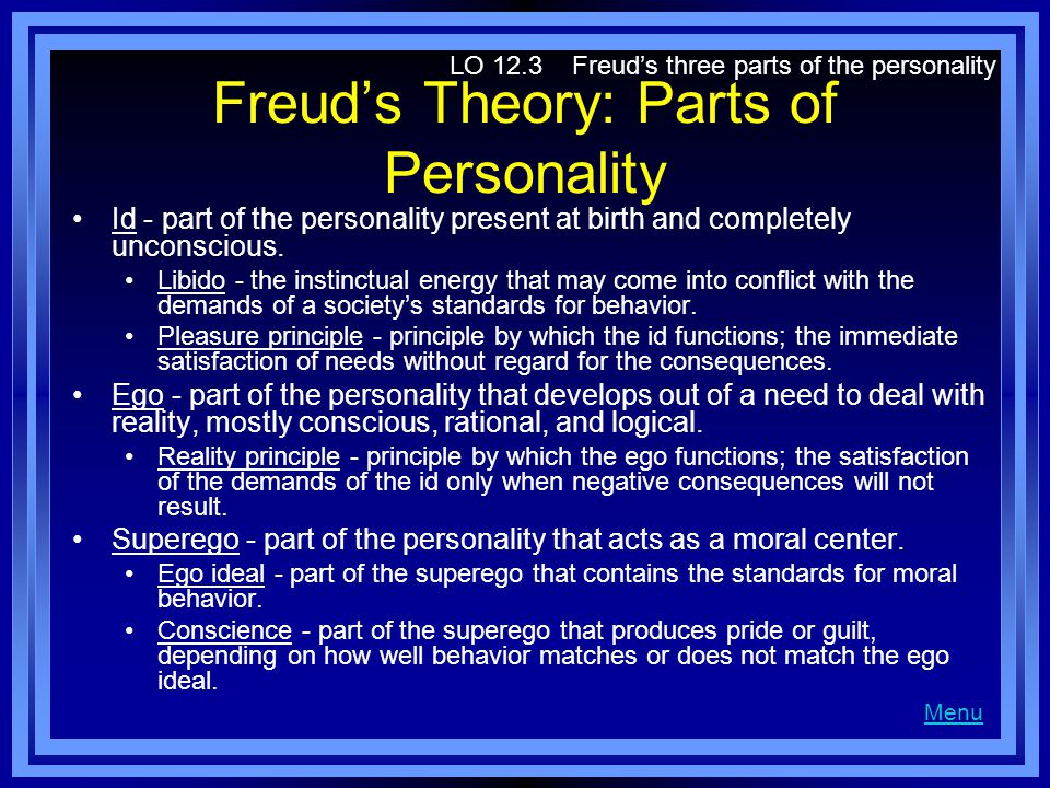 Freud's Theory: Parts of Personality