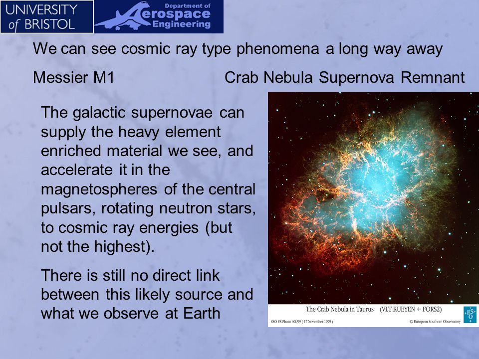 We can see cosmic ray type phenomena a long way away