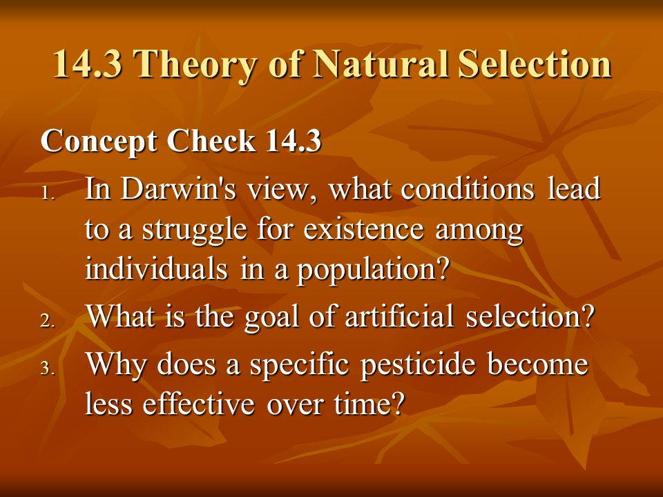 14.3 Theory of Natural Selection