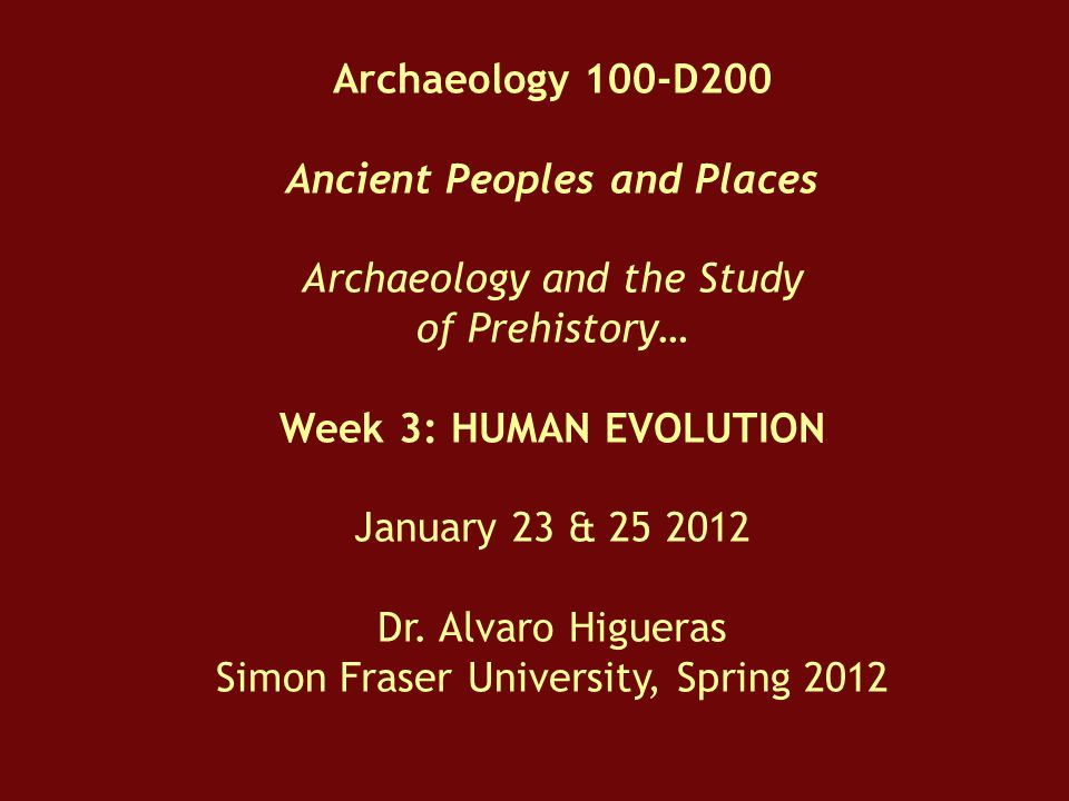 Ancient Peoples and Places