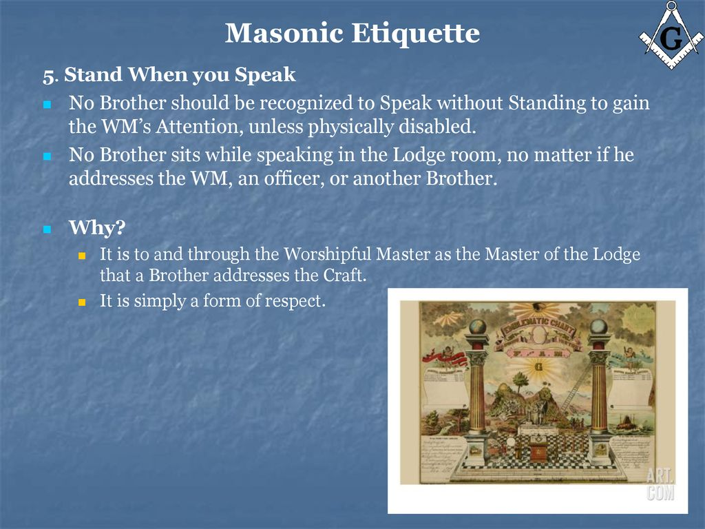 Masonic Etiquette Do's and Don'ts - ppt download