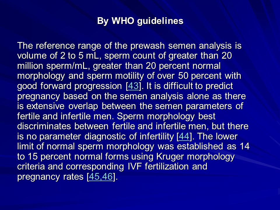 By WHO guidelines