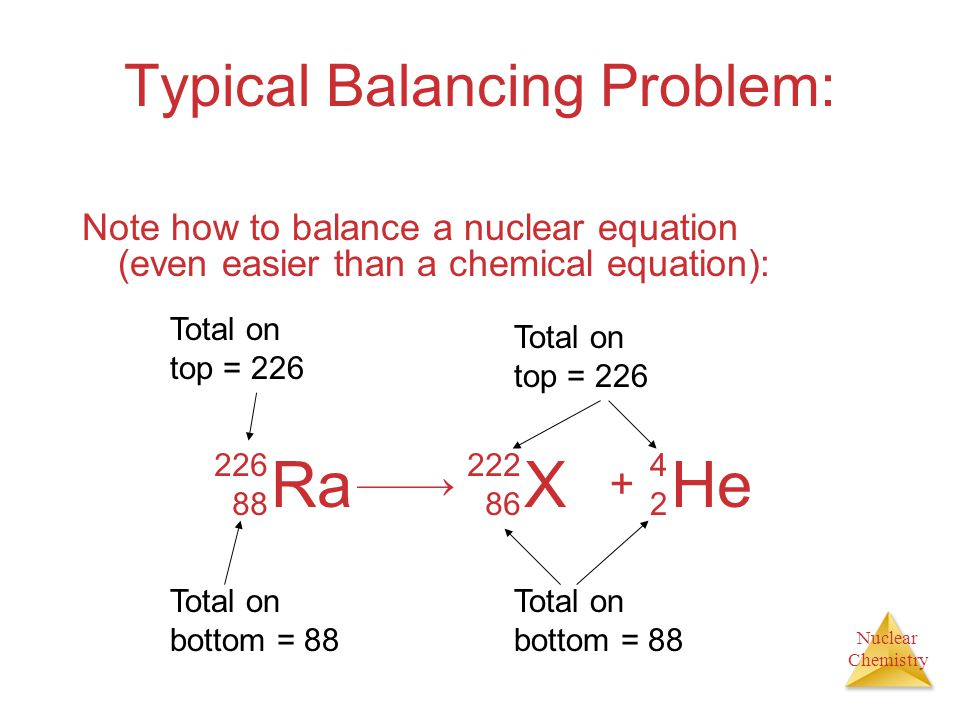 Typical Balancing Problem: