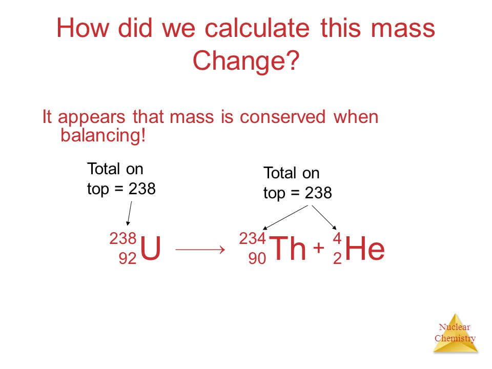 How did we calculate this mass Change