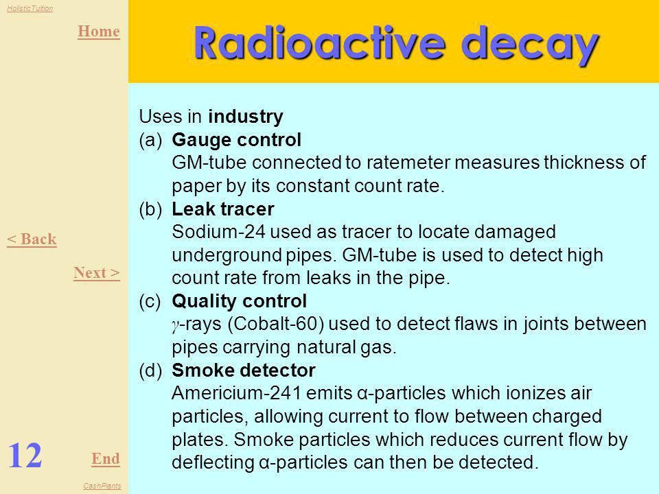 Radioactive decay 12 Uses in industry (a) Gauge control