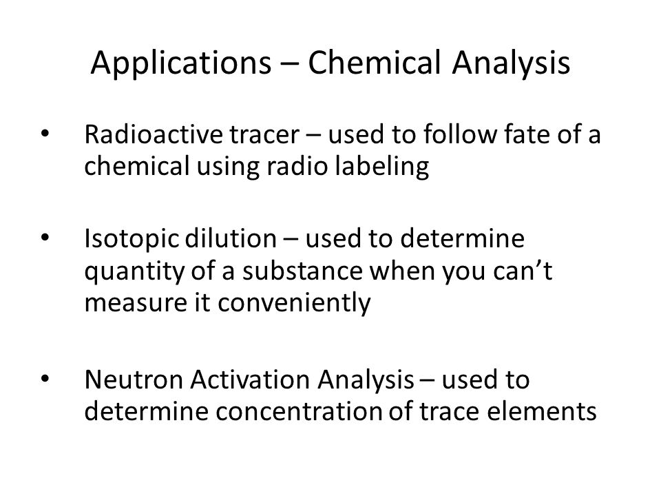 Applications – Chemical Analysis