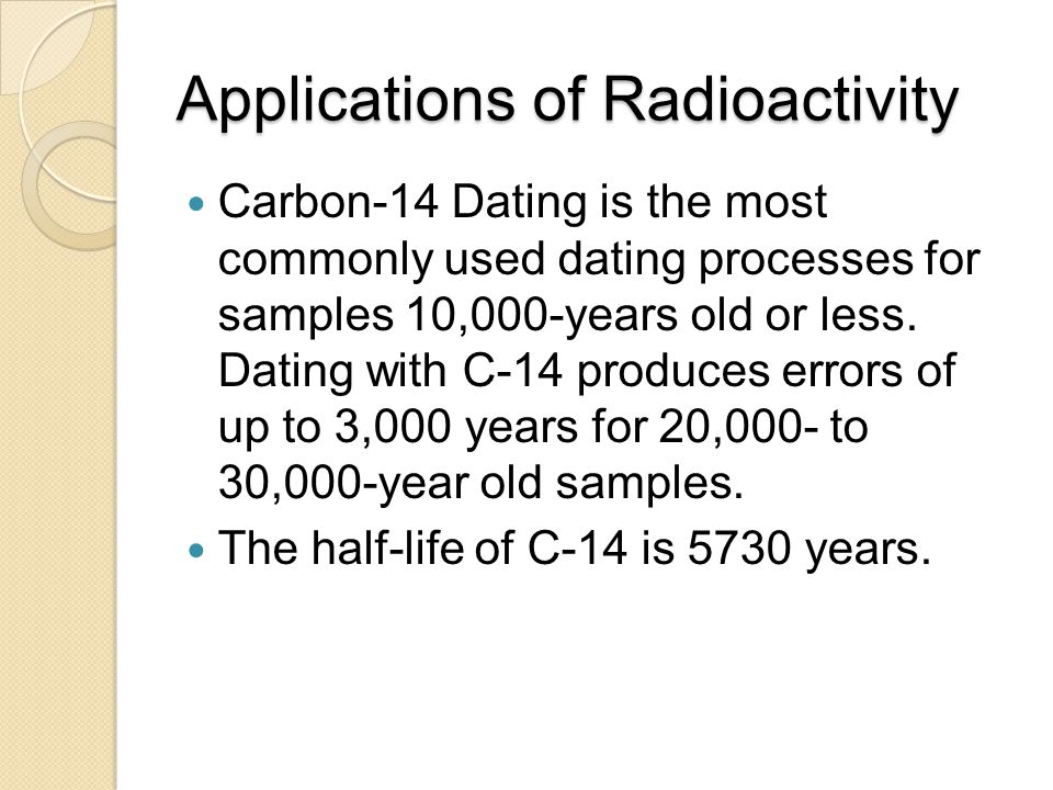 Applications of Radioactivity