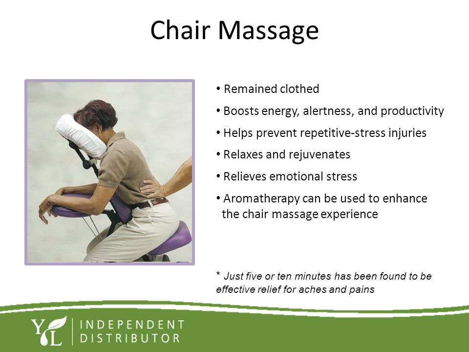 Chair Massage Remained clothed