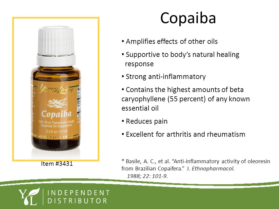 Copaiba Amplifies effects of other oils