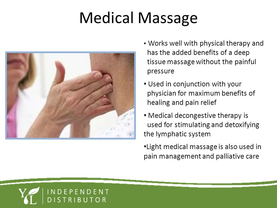 Medical Massage has the added benefits of a deep