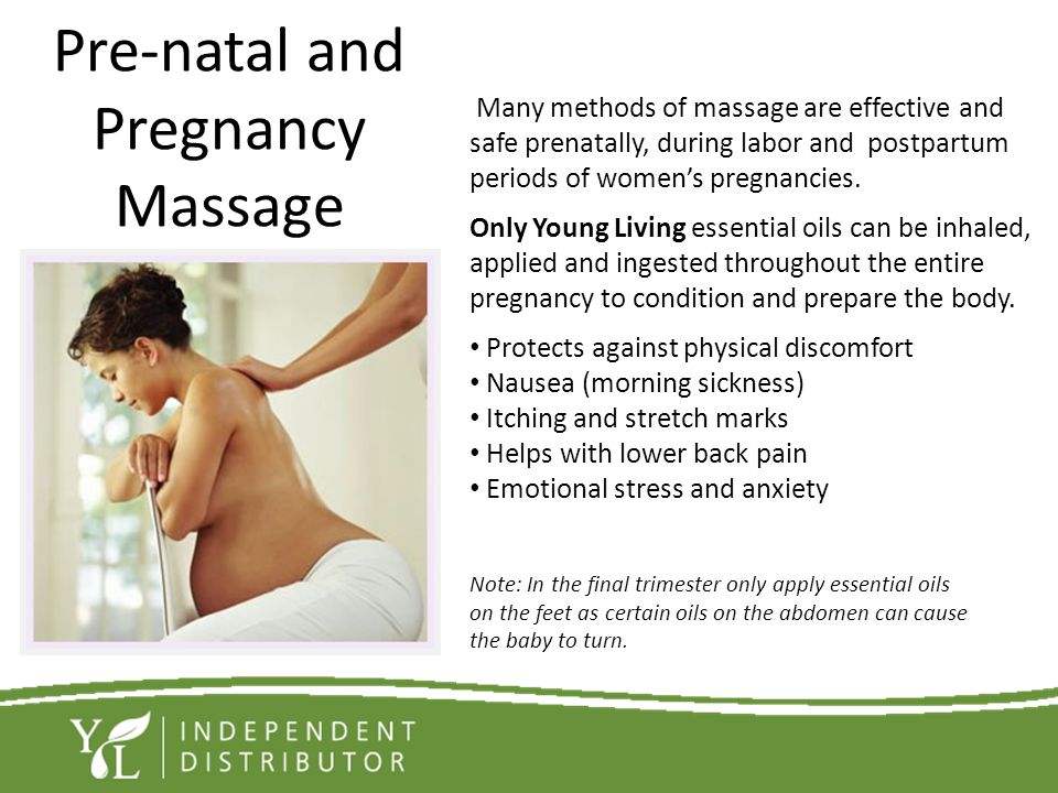 Pre-natal and Pregnancy Massage