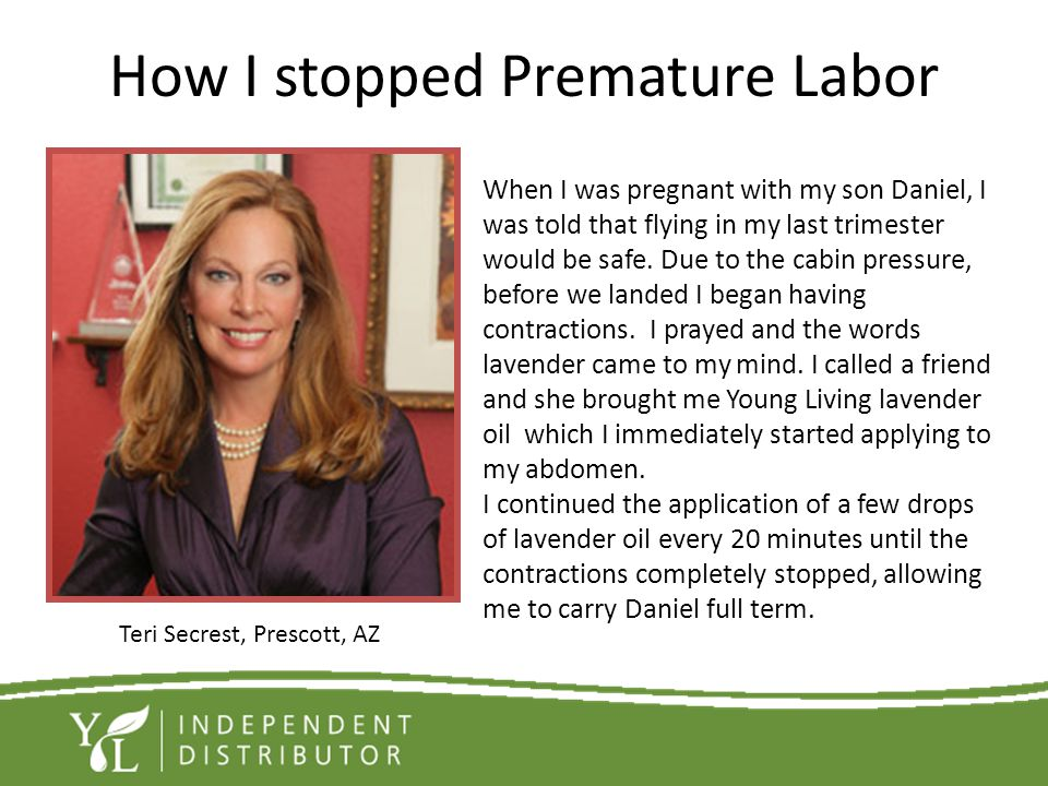 How I stopped Premature Labor