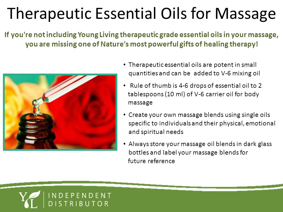 Therapeutic Essential Oils for Massage