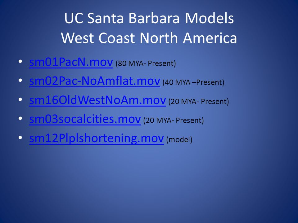 UC Santa Barbara Models West Coast North America