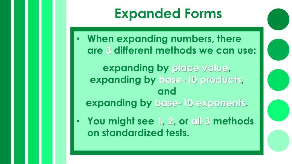Place Value: Expanding Whole Numbers 10 Ways - ppt download
