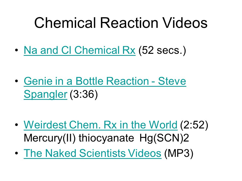Chemical Reaction Videos