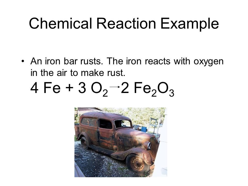 Chemical Reaction Example