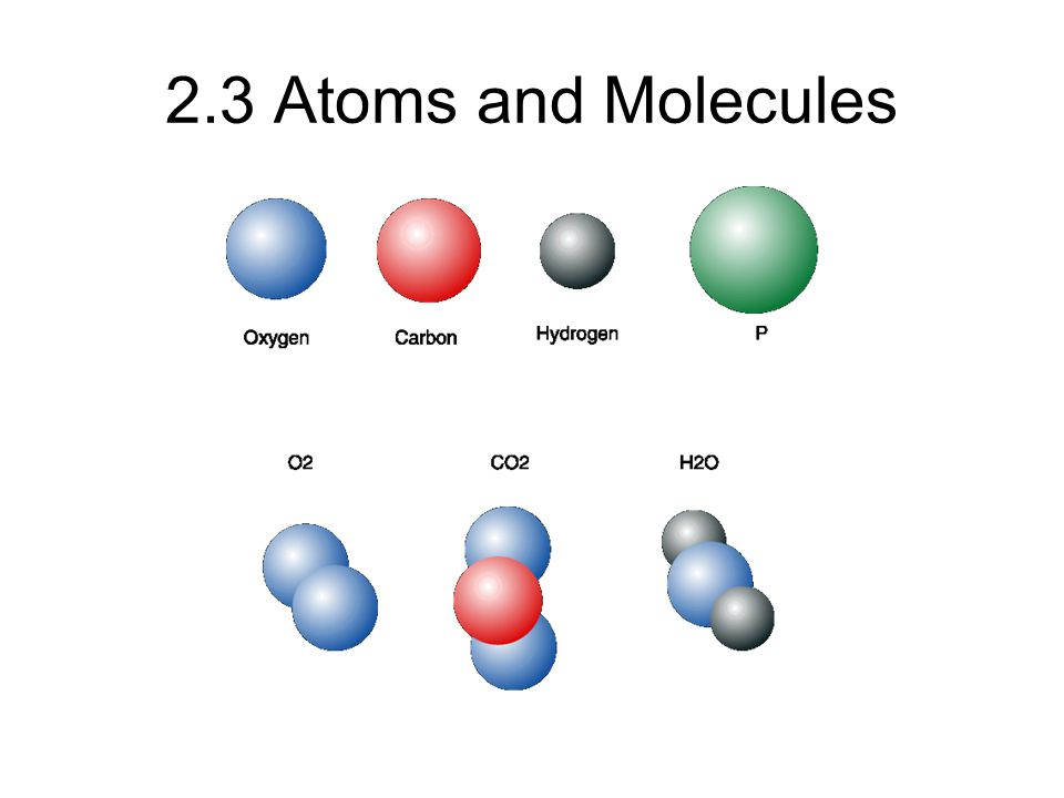 2.3 Atoms and Molecules