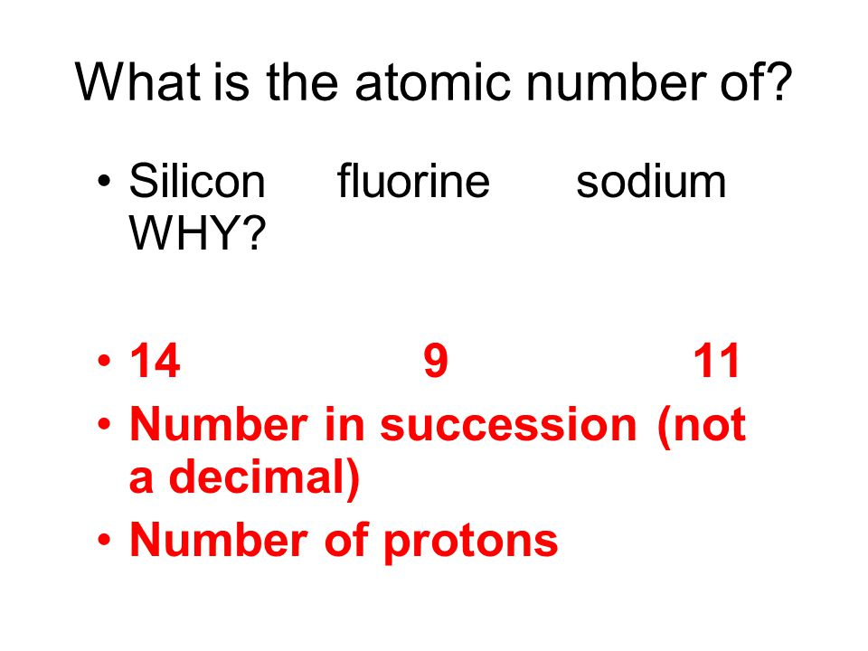 What is the atomic number of