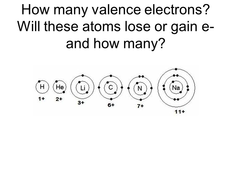 How many valence electrons