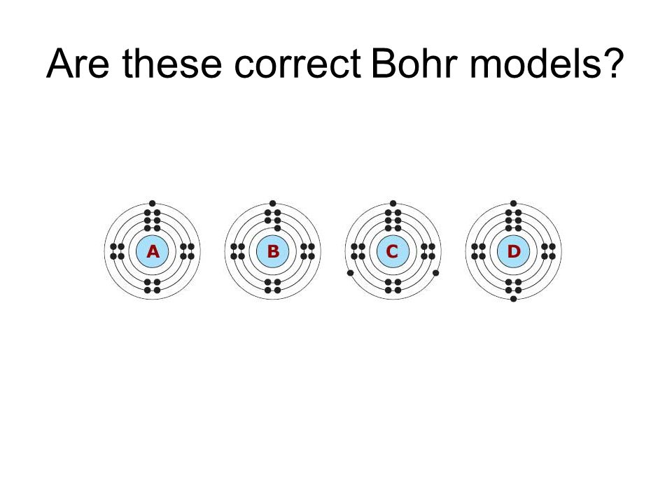 Are these correct Bohr models