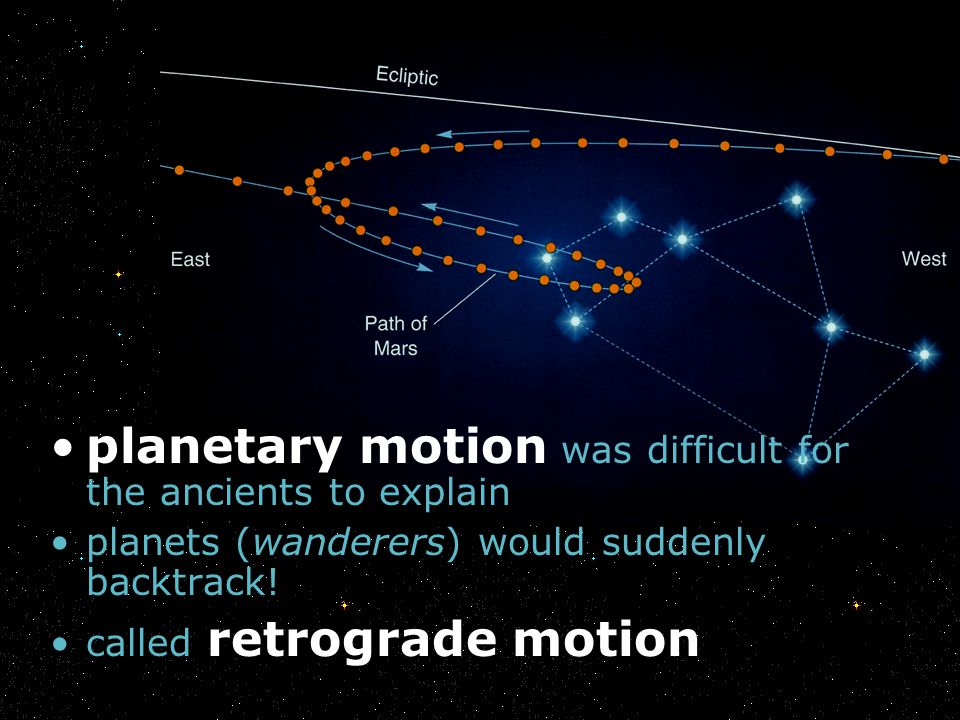 planetary motion was difficult for the ancients to explain