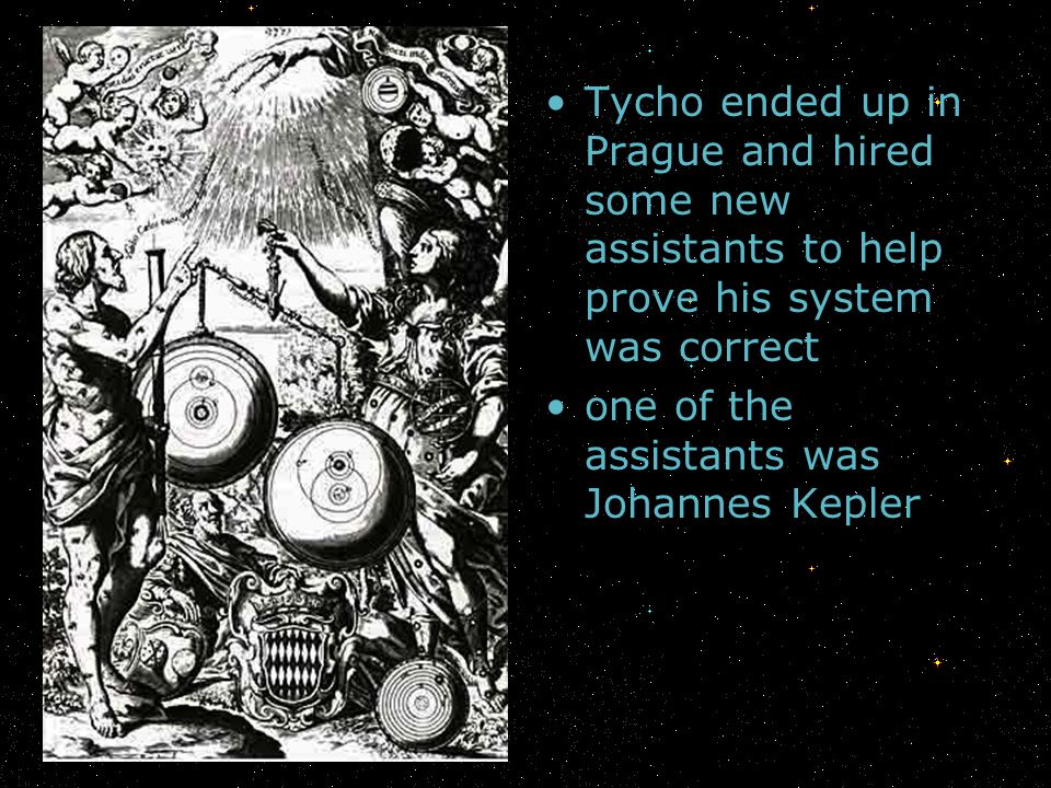 Tycho ended up in Prague and hired some new assistants to help prove his system was correct